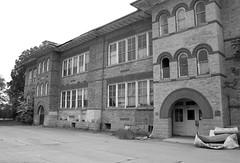 The (Haunted) Harrington School (CaptainHowdy01) Tags: city chris school urban white lake black building brick abandoned dark utah scary noir gloomy decay ghost salt haunted spooky abandon haunting damaged derelict peterson harrington darknesswithin thedarknesswithin