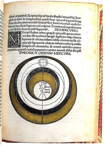 Page of text with diagram from Johannes de Sacro Bosco: Theoricae Novae Planetarum'