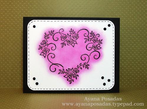 Rosevine Heart- Pink (1)