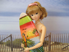 Tiffany is a surfer girl