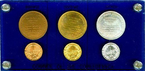 1962 Bashlow Confederate Coin set reverse