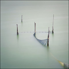 bruised water (biancavanderwerf) Tags: water square turquoise smooth bianca nets longshutter bratanesque fishpoles