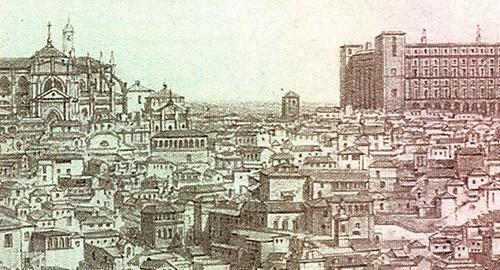 Toledo en 1850. Litografía de Deroy