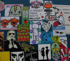 stickercombo (wojofoto) Tags: stencil sticker stickerart belgium belgie stickers stickercombo doel freaq wojofoto