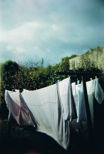 photo of a clothesline with undergarments on it