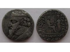 Artabanus II tetradrachm (Baltimore Bob) Tags: old money silver persian coin ancient persia tyche parthian billon parthia tetradrachm arsacid seleukia arsakid