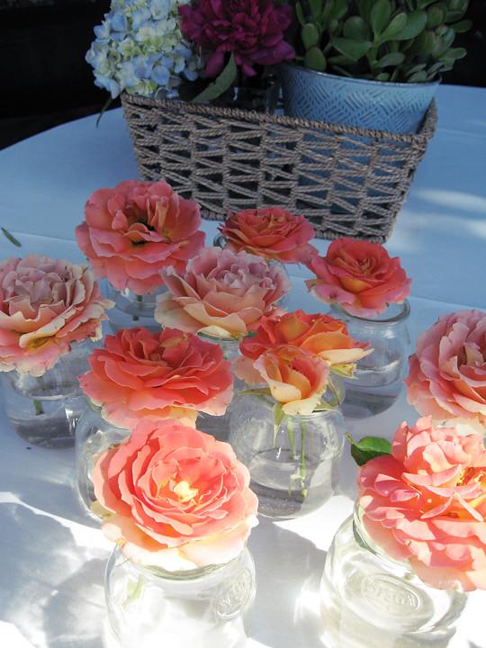 hydrangeas+succulents+roses+its a boy+baby shower decor ideas -13