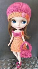 blythe pink and peach dress set