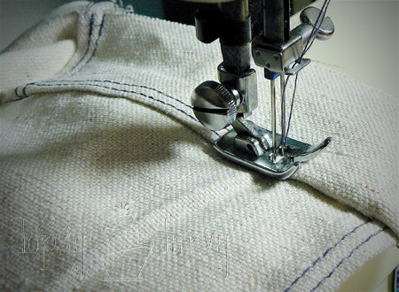 canvas satchel tutorial sewing sides