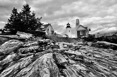 Storm over Pemaquid (ImagesbyEduardo.com) Tags: bw lighthouse storm nikon rocks cloudy maine stormy eduardo pemaquid d300 1685 rubyphotographer dragondaggerphoto imagesbyeduardo