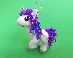 Babyglory Unicorn (DragonsAndBeasties) Tags: blue sculpture horse white cute statue silver rainbow purple magic tail small chibi polymerclay fimo pony fantasy gift tiny kawaii sculpey etsy custom figurine unicorn mane mylittlepony premo ittybitty babyglory