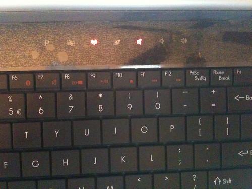 Gateway NV Touch Keys