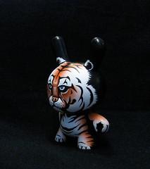 Tiger Dunny Looking Left (jonpaulkaiser) Tags: urban toy designer tiger vinyl kidrobot custom dunny blend jonpaulkaiser