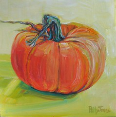 Giveaway Painting Pumpkin (PollyPainting) Tags: autumn orange green art fall painting pumpkin acrylic free canvas giveaway pollyjones