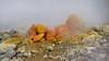 yellow rocks with Sulphur deposits