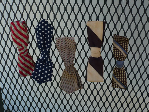 vintage clip-on bow ties