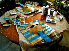 Pharoah mummy masks