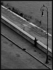 Funky jazzman (Gerard Schuur) Tags: street city people blackandwhite bw italy rome roma citylife jazz streetlife citylights streetartist sax saxophone jazzmusic jazzplayer rome2010 peoplism