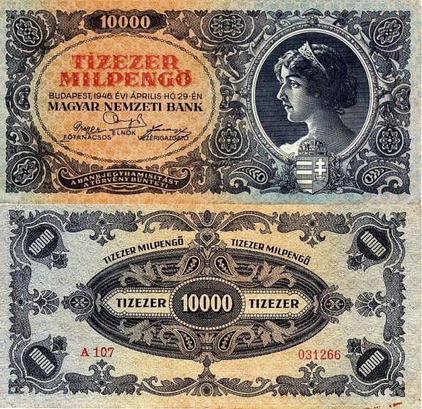 10 000 MilPengő Maďarsko 1946