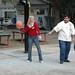 Students playing Basketball at the Student  Leadership Retreat (Malibu, CA) 2005