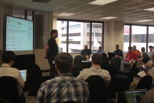 Chuck Thier leading a technical discussion about OpenStack Object Storage