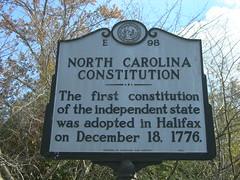 NC Constitution Historic Marker (jimmywayne) Tags: rural northcarolina historic marker constitution halifax halifaxcounty