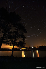 Knapps Stars I (CU-Photography) Tags: light cold tree pine night star scotland twilight trails pollution craig loch usher scots kilmacolm polaris knapps inverclyde renfrewshire lotsoffeckingnoise