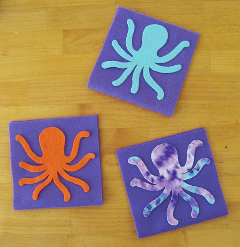Octopus purses in progress