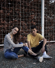Christopher and Natasja. (Salvawixo) Tags: fall manipulation golden hour portrait retrato canon eos t5i rebel 85mm 24mm fashion outfit model collaboration vogue editorial diary amateur