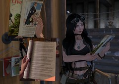 Research (Inworld: Rya Korpov) Tags: sl secondlife second life character rp fallout fallout4 milk human kindess vintage prop magazine article wasteland post apoc ad advertisement mesh