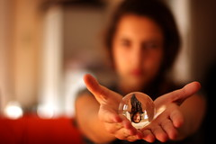 the first principle (helen sotiriadis) Tags: portrait glass girl canon ball published dof crystal bokeh science depthoffield sphere refraction nix optic canonef50mmf14usm principle richardfeynman canoneos40d toomanytribbles