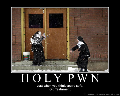 Motivational Poster: Holy Pwn