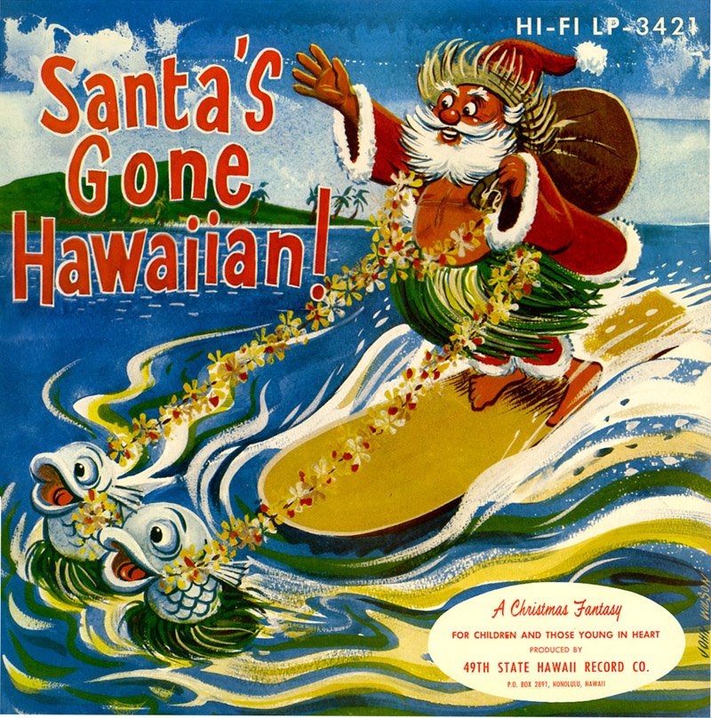 Santas Gone Hawaiian record_tatteredandlost