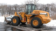 J.I Case front end loader. Northbrook Illinois. December 2009.