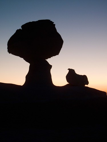 Travel Photo Roulette: The chicken and the tree chalk rock formation, Egypt. Copyright by dreamalittledream.ca