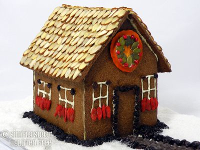 Gluten Free, Sugar Free Gingerbread House