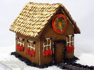 Gluten Free, Sugar Free Gingerbread House