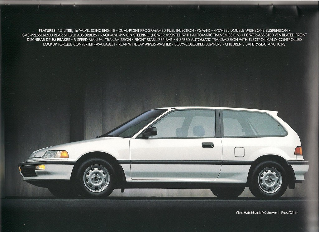 civic 1990 specs