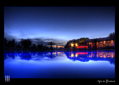 Opio en Provence #2 (il COE) Tags: sunset en night photoshop canon reflections lights tramonto cannes fisheye luci provence 16mm riflessi notte hdr coe opio 500d photomatix