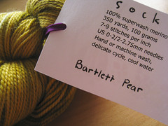 Bartlett Pear-2 (TheGirlCantHelpKnit) Tags: sock yarn sundara handdye