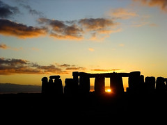 Sunset at Stonehenge, 9 days before winter solstice. (Beardy Vulcan) Tags: autumn sunset england sky sun heritage history fall clouds december day stones solstice wintersolstice stonehenge astronomy wiltshire 2009 salisburyplain stoneage stonecircle henge amesbury englishheritage pwpartlycloudy