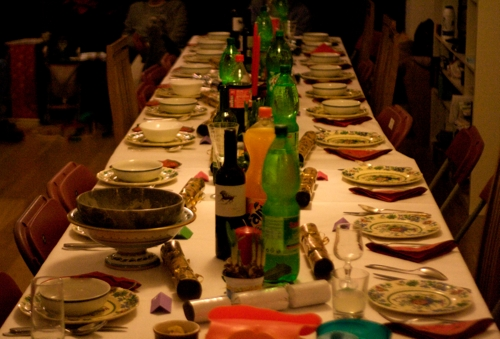 Christmas dining table, 2009