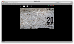HORM 20yrs website intro #01