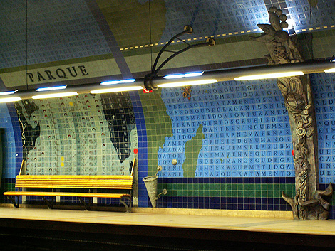 Lisbon subway art