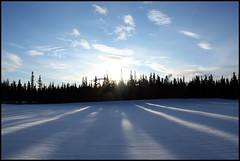 ~ (Northwest haidaan) Tags: clouds shadows yukon whitehorse 2010 wintersun christmasbirdcount mountainviewgolfcourse
