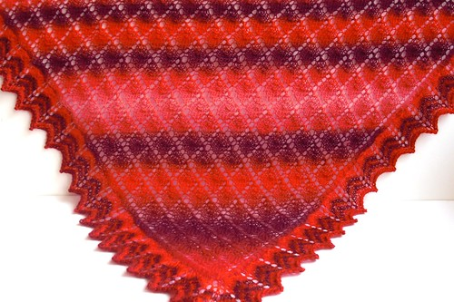 "Triangular Scarf in Leaf Pattern by Nancy Bush-34"" x 53"" by Nancy Bush-4"
