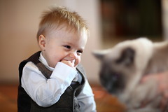 And our staring contest winner is...! (Eric 213) Tags: christmas arizona portrait baby cute smile america kid dof child bokeh candid adorable connor 2009 canonef85mmf12liiusm canoneos5dmarkii