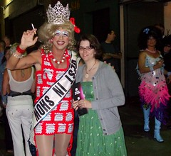 In the Alley (Stitchy McYarnpants) Tags: beer dress crochet beercan gown pageant budweiser aidforaids bestindrag