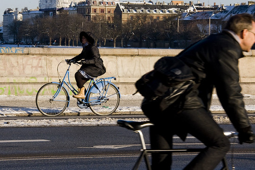 Right and Left - Cycling in Winter in Copenhagen