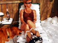 don't eat the yellow snow... (bethechange21) Tags: snow cold suntan hi roulette bella 525 snowboots apparently fugger fgr thesuncameout imalightweight forabriefmoment butacoolone davesays 525oftwentyten 525of2010 hesanasshat